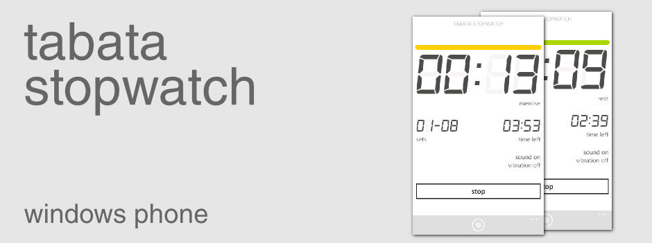 Tabata Stopwatch for Windows Phone